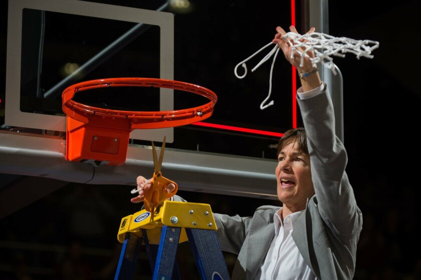 Stanford women's basketball coach Tara VanDerveer is one of only six coaches in the elite 900-win club in women's college basketball. VanDerveer has won two NCAA championships in 35 years at Stanford, and has a career record of 927-207.