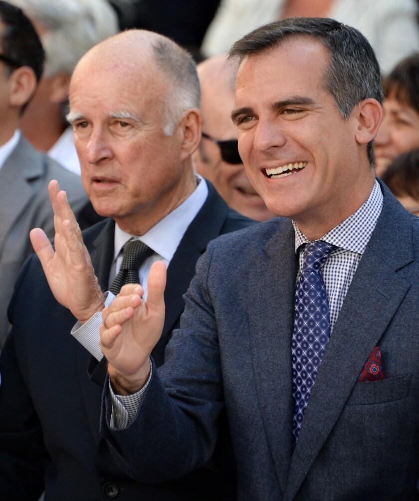 Brown and Garcetti