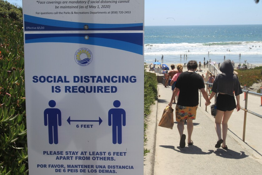Signs stating some of the the rules at Solana Beach.
