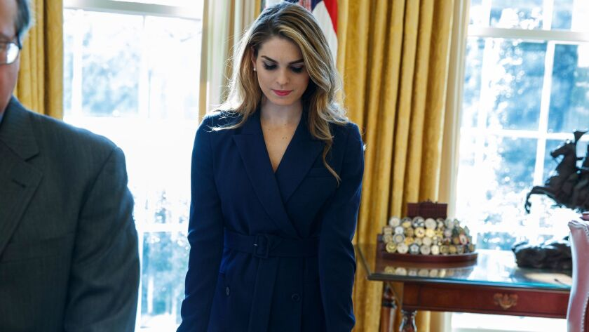 The special counsel's Russia investigation has placed White House communications director Hope Hicks under increased scrutiny.