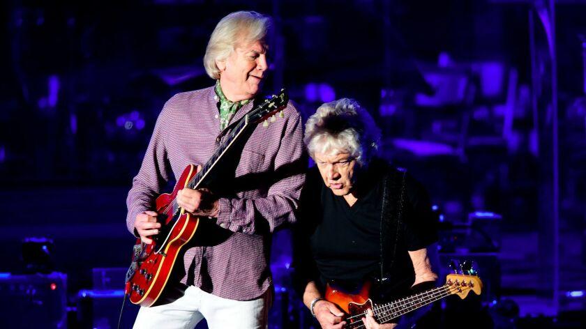 HOLLYWOOD, CA, SATURDAY, JUNE 17, 2017 - The Moody Blues, Justin Hayward, left, and John Lodge perfo