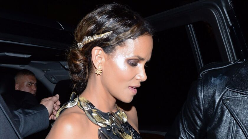 Halle Berry arrives for Rihanna's Met Gala after-party at 1 Oak in New York.