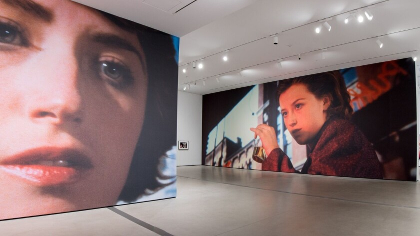 """Two new site-specific murals are in the first gallery of """"Cindy Sherman: Imitation of Life,"""" the Broad museum's first special exhibition."""