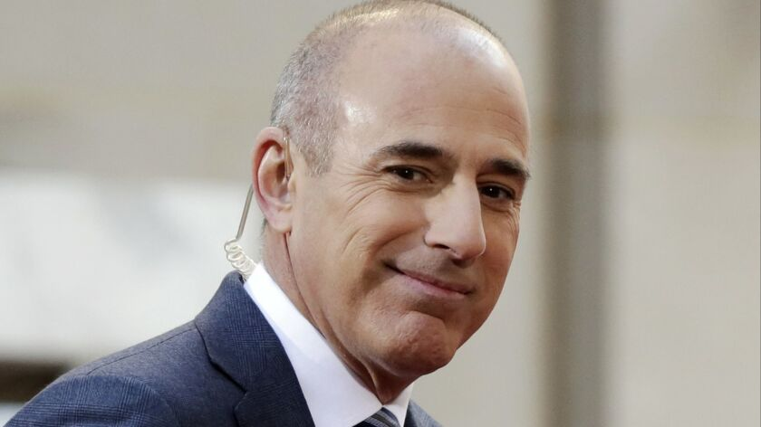 """Matt Lauer, former co-host of the NBC """"Today"""" show, appears on set in Rockefeller Plaza in New York in 2016."""