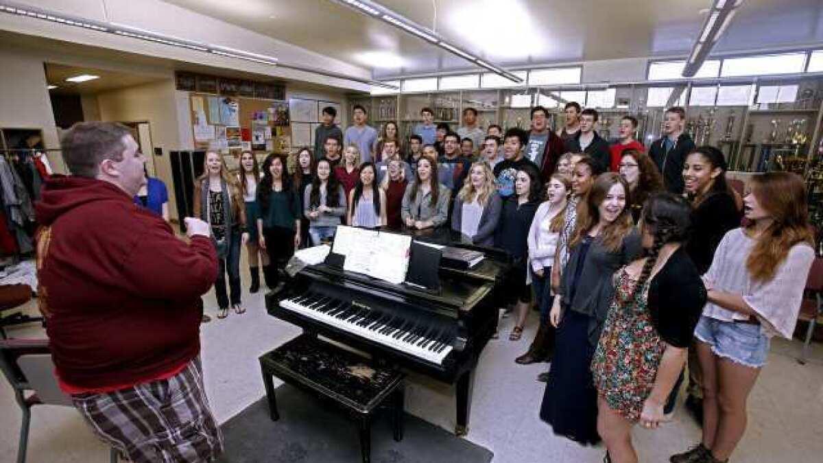 John Burroughs High School choir teams sing songs of success - Los ...