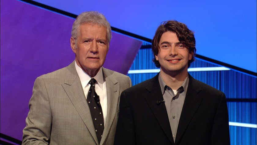 Maurice Ayach (left) with game show host Alex Trebek. Courtesy photo