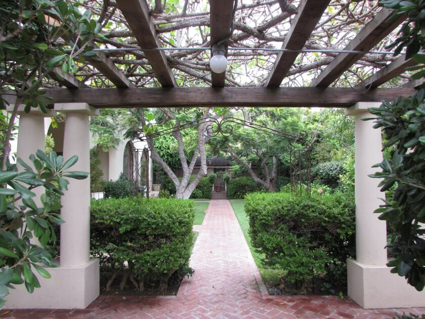 La Jolla Woman's Club's beautiful courtyard.