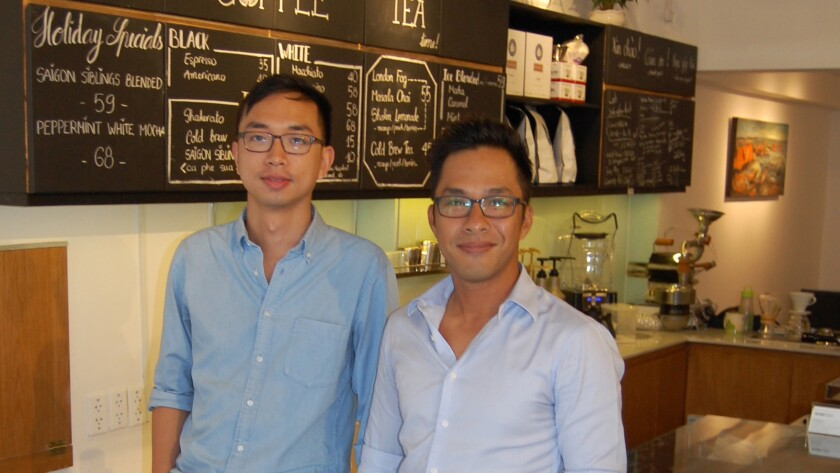 """Hao Tran, left, and Guy Truong are co-founders of Vietcetera, an English-language website that seeks to """"tell the untold stories of the new Vietnam."""""""