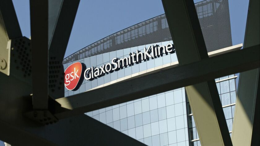FILE - This April 20, 2009 file photo, shows the British pharmaceuticals firm GlaxoSmithKline in Lon