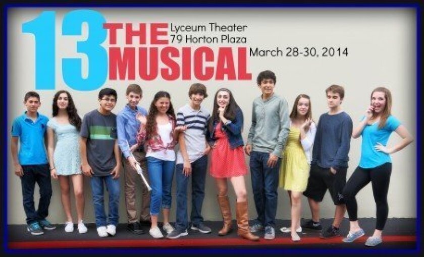 "Local actors will appear in ""13"" at the Lyceum Theater."