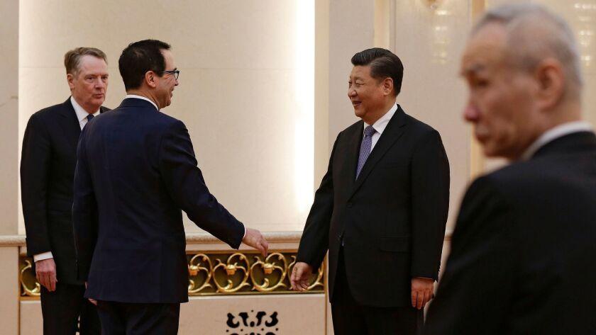 US Delegation for trade talks in China, Beijing - 15 Feb 2019