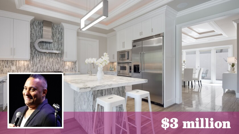 Comedian-actor Russell Peters has put his remodeled compound in Studio City on the market for about $3 million.