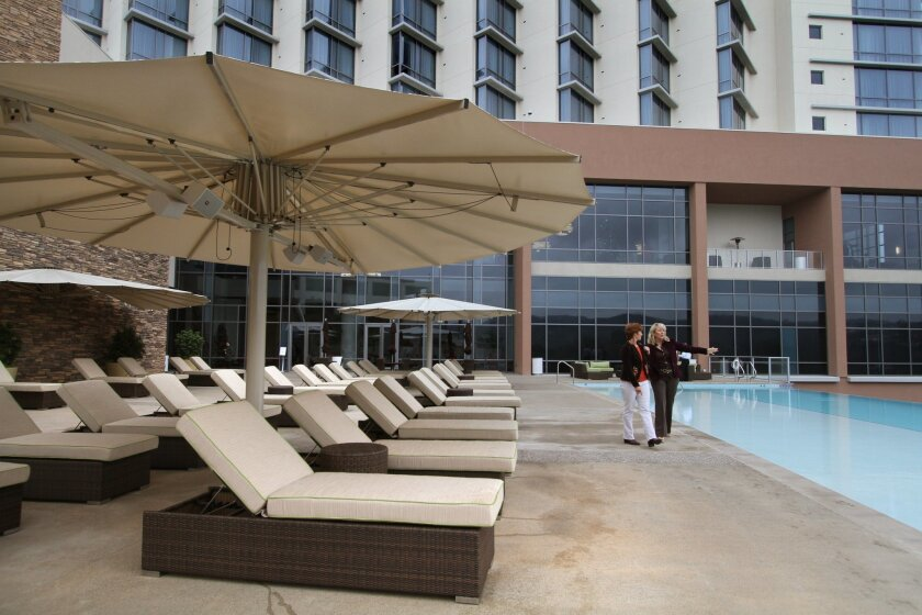 The pool at the Valley View Casino &  Hotel