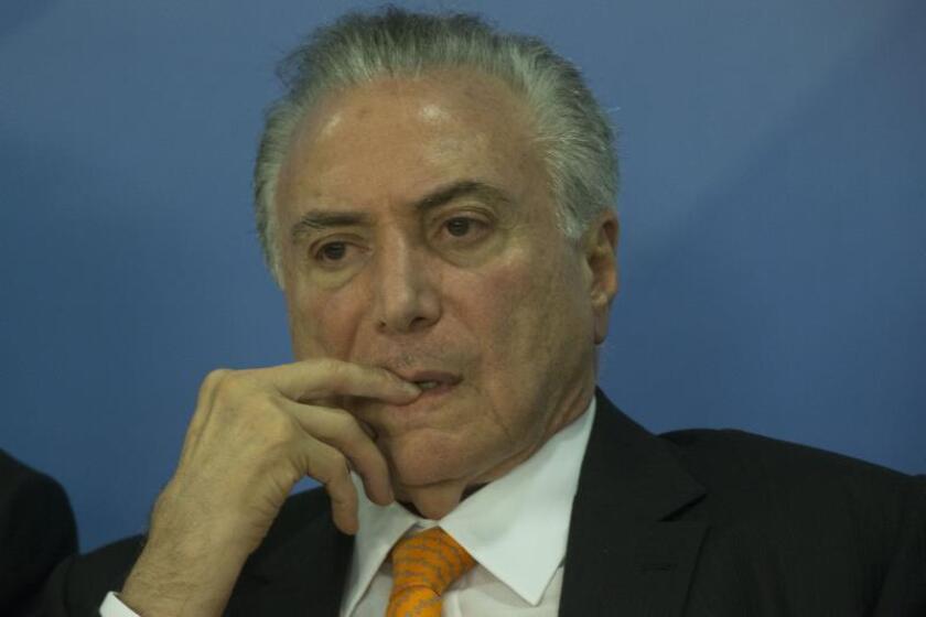 El Presidente pro tempore del Mercosur, Michel Teme. EFE/Archivo