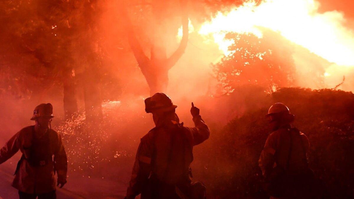 Fire Battalions 1 thru 21 T-shirt L Los Angeles Co
