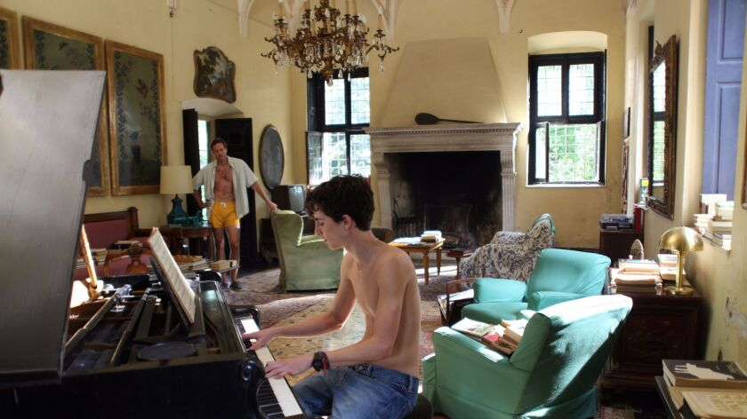 """Timothee Chalamet as Elio in a scene from the movie """"Call Me by Your Name."""" Credit: Sony Pictures Cl"""