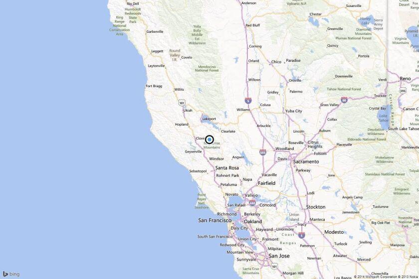 Earthquake: 3.0 quake strikes near The Geysers, California