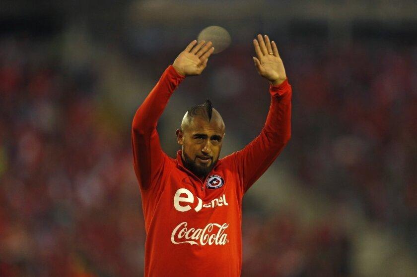 Arturo Vidal de Chile será uno de los grandes ausentes de la justa rusa.