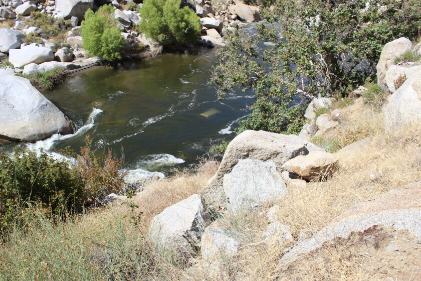Dodge Durango found in Kern River
