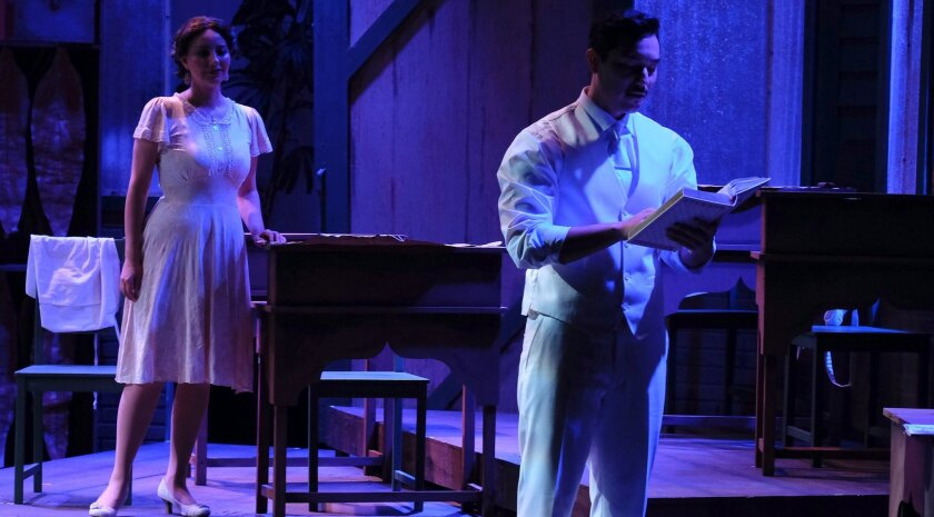 """Melba Novoa and Steven Lone in Moonlight Stage Productions' """"Anna in the Tropics."""""""
