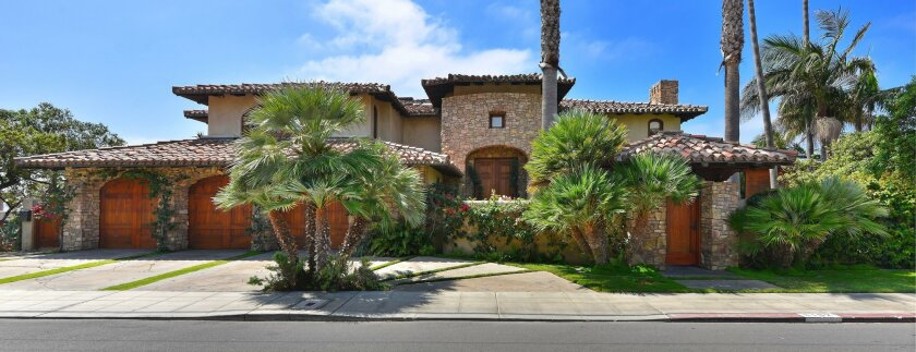 Home prices rose 1 percent from November to December in San Diego County. Pictured: 6102 Camino De La Costa in La Jolla sold for $12.5 million in 2015.