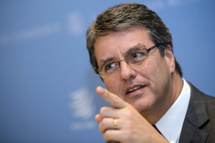 Roberto Azevedo of Brazil, pictured in January, has been elected the first Latin American director-general of the World Trade Organization.
