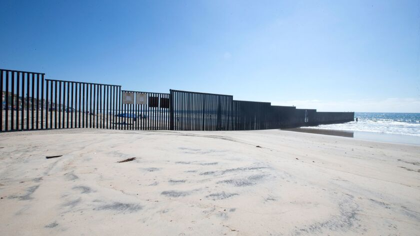 The border fence in Imperial Beach.