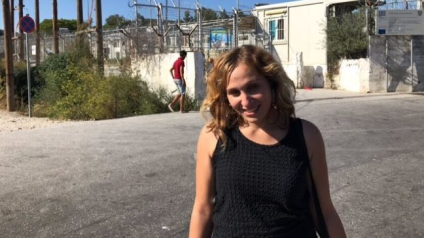 Binam, a migrant from Syria's Hama province, wants to leave the Moria camp.