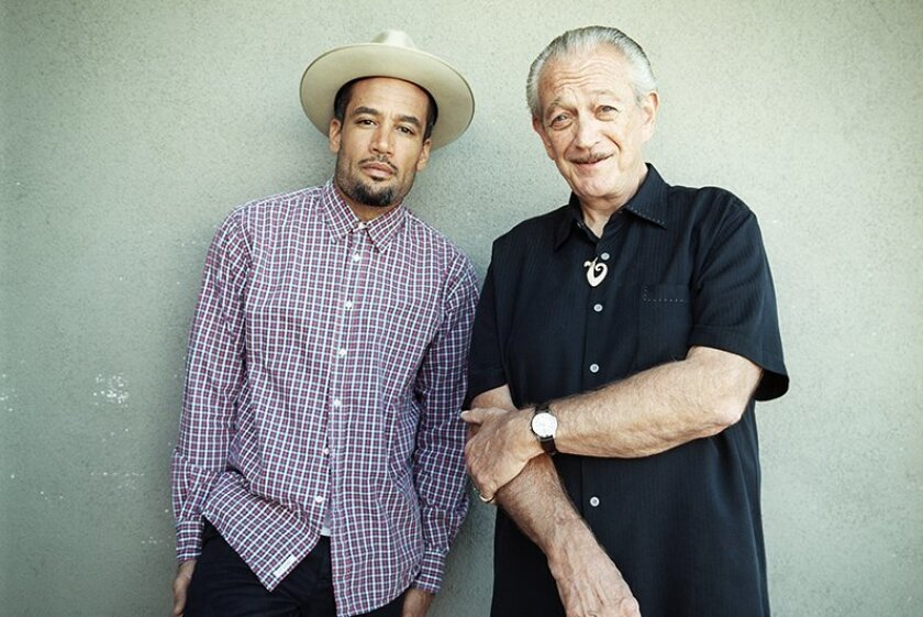 MUSIC --- Ben Harper (left) and Charlie Musselwhite. photo by Danny Clinch