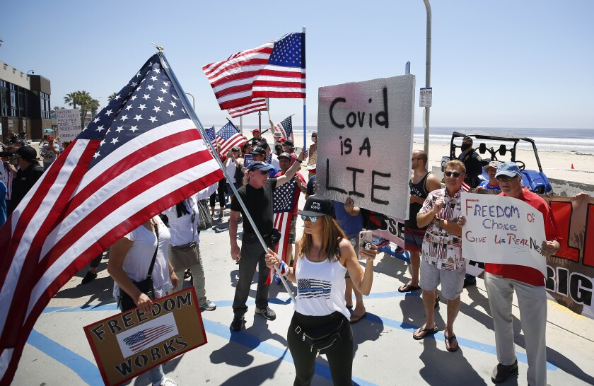 Commentary: Coverage of anti-lockdown protests in San Diego is ...