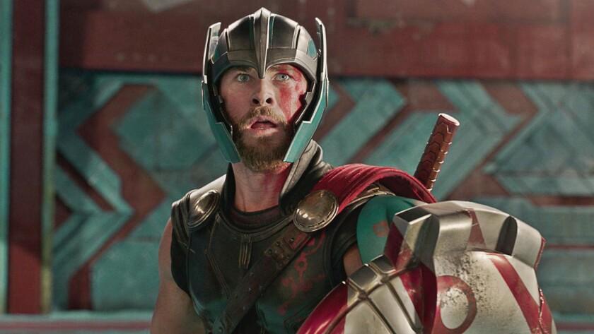 "Chris Hemsworth appears in a scene from ""Thor: Ragnarok."""