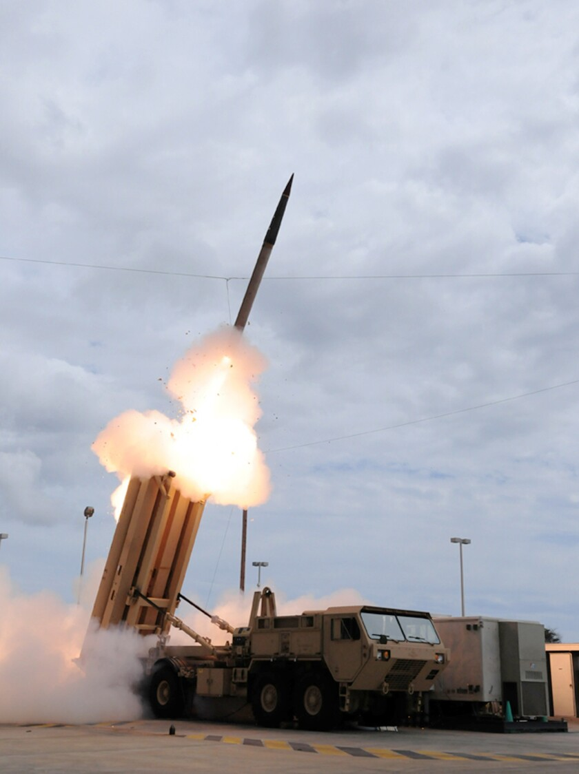 A THAAD missile is launched during a 2009 test.