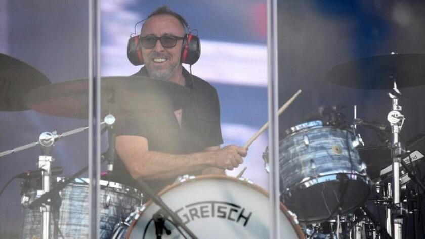 Drummer Victor Indrizzo is shown performing Sunday at KAABOO Del Mar, where he accompanied Alanis Morissette. Clean and sober since 1997, he also spent time in the MusiCares' Safe Harbor Room backstage at the festival. ( Misael Virgen)