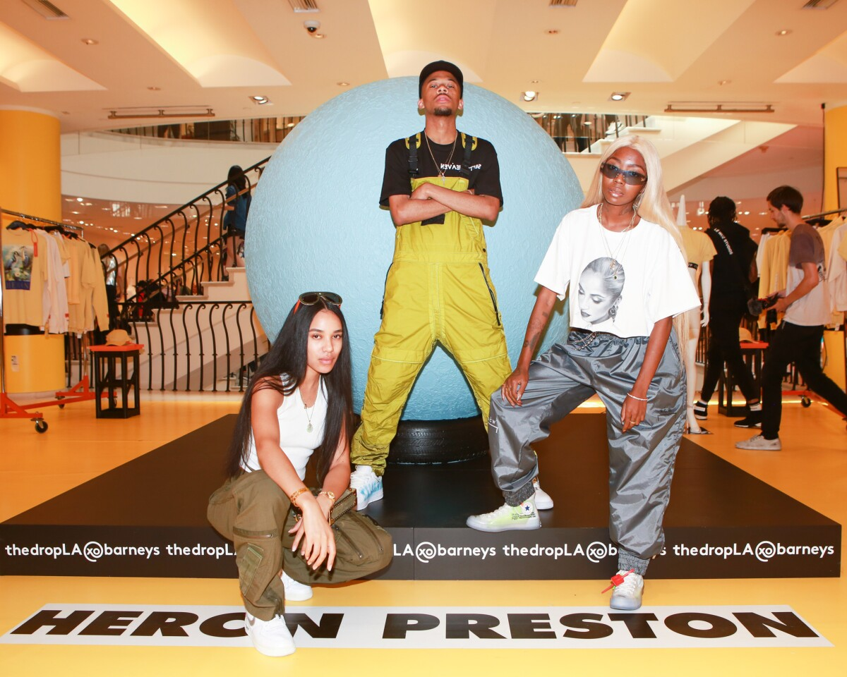 Aleali May, Chance Grant and Siobhan Bell at thedropLA@barneys event in Beverly Hills.