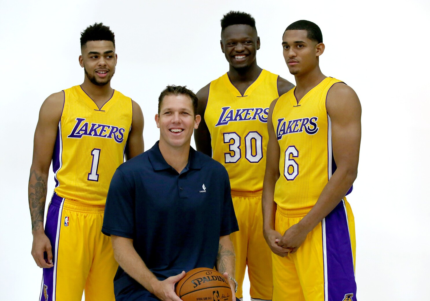 A Look At Lakers 2016 17 Roster Los Angeles Times