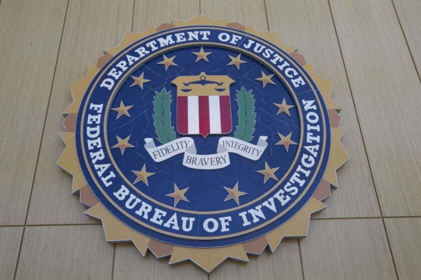 A photo of an FBI seal.