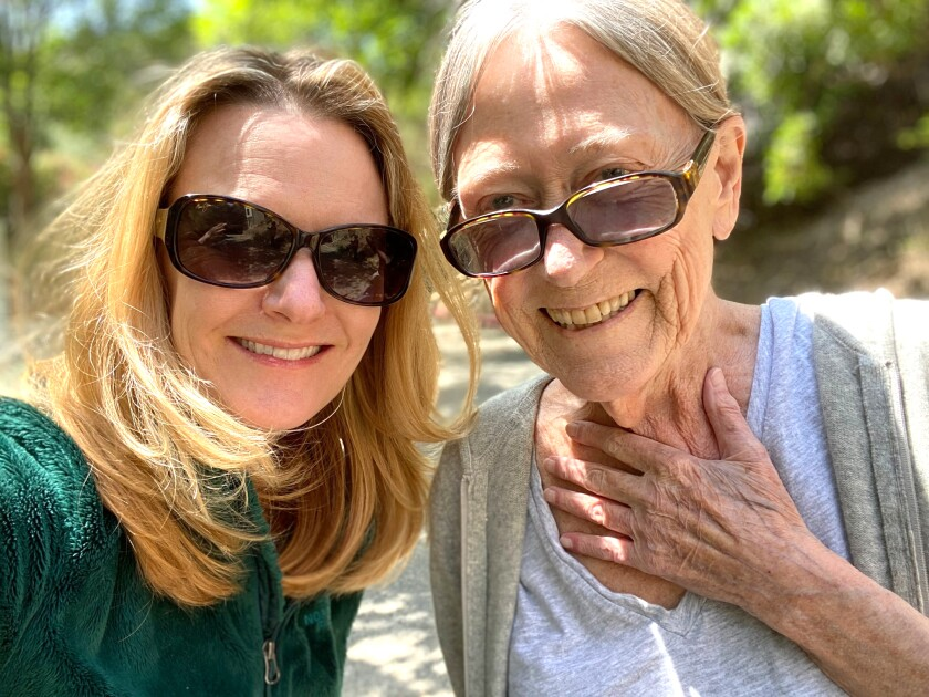 Anne Rimoin, professor of epidemiology at UCLA and her mother, MaryAnn Rimoin (right),