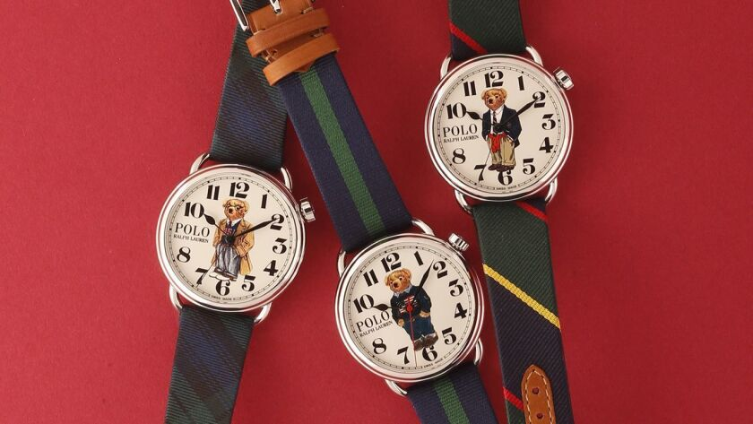 5ab6de7d11 Ralph Lauren introduces Polo Bear watches - Los Angeles Times