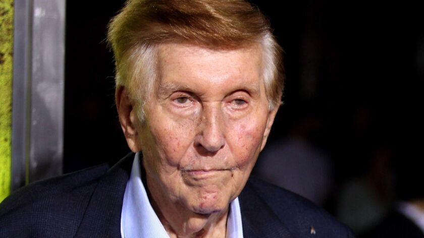 Sumner Redstone, shown in 2012, is the controlling shareholder of CBS and Viacom. His wealth is estimated at $4.5 billion.