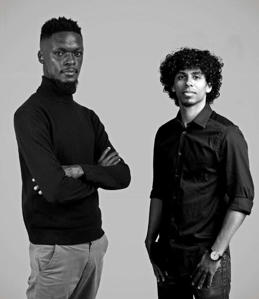 Felix Orwa, left, and Meka Este-McDonald co-founded Sote