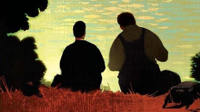 """Cover detail of Penguin Classics edition of John Steinbeck's """"Of Mice and Men,"""" which is being challenged by parents in Idaho."""