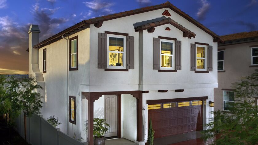 A home model for Pepper Tree community of homes at Oceanside's Mission Lane by Beazer Homes.