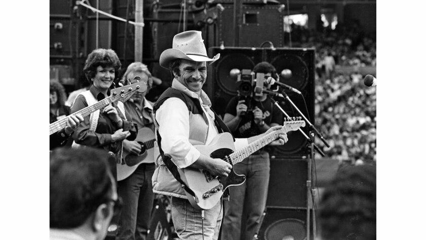 Oct. 26, 1980: Merle Haggard in concert at Anaheim Stadium.