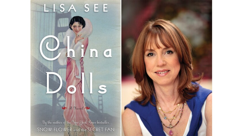 """The cover of """"China Dolls"""" and author Lisa See."""