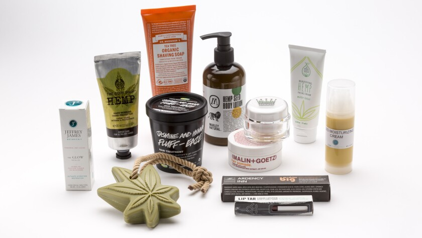 A look at several cannabis-related beauty products available in stores and online.