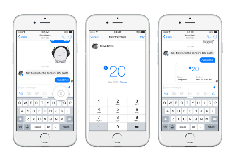 Facebook has introduced a free payments system for Messenger.