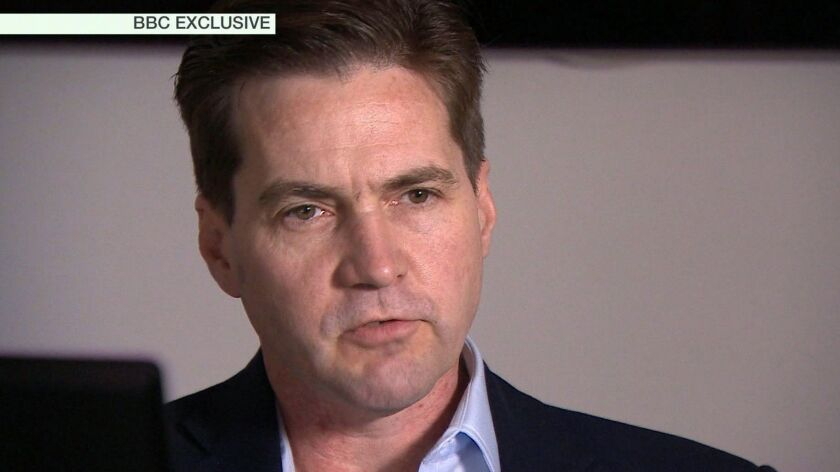 Craig Wright, shown in a 2016 BBC interview, has publicly identified himself as the creator of bitcoin.