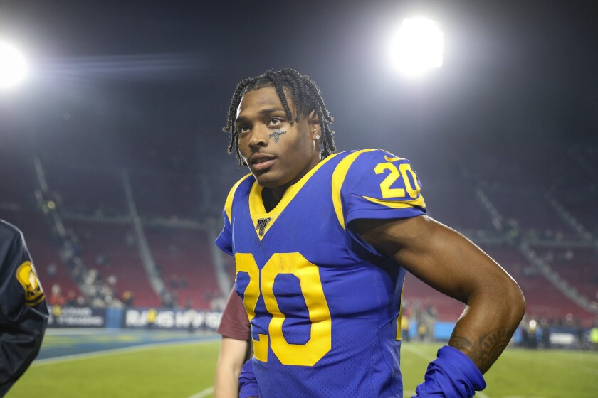 Rams cornerback Jalen Ramsey won't play in the team's season finale against the Arizona Cardinals.