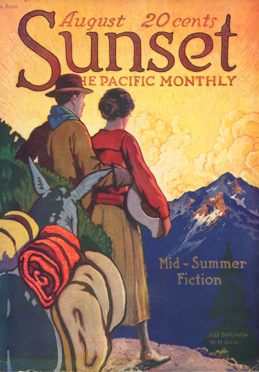 Sunset Magazine cover 1919