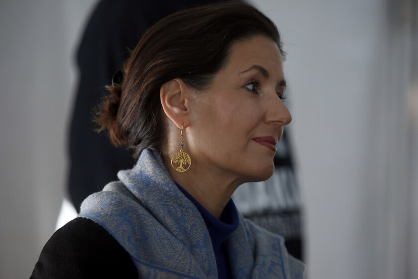 Oakland Mayor Libby Schaaf at a community meeting Saturday.